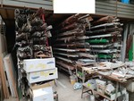 Shelves and metal worked seeds - Lot 7 (Auction 4744)