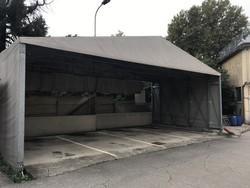 Tunnel estensibile esterno e tenso struttura esterna