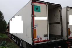 Unicar semitrailer with isothermal container - Lot 8 (Auction 4847)