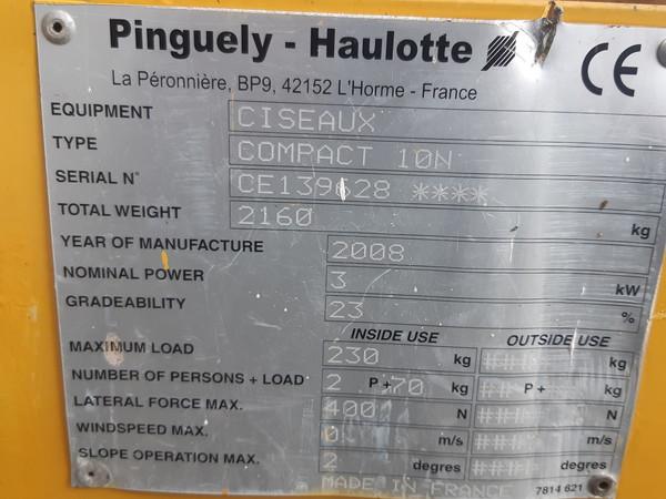 Immagine n. 5 - 3#4873 Piattaforma aerea verticale a pantografo Haulotte Compact 10