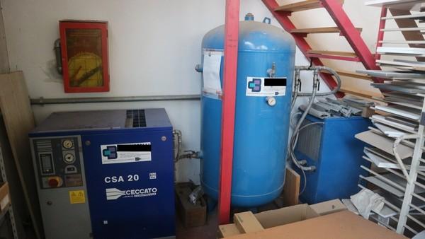 5#4929 Compressore Ceccato ed essiccatore