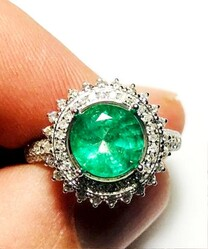 White gold ring and sapphire and diamond cocktail ring - Lot 0 (Auction 4970)