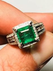 F color emerald and diamonds ring - Lote 12 (Subasta 4970)