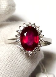 Ruby and diamond cocktail ring - Lote 4 (Subasta 4970)
