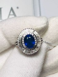 Sapphire and diamond cocktail ring - Lot 9 (Auction 4970)