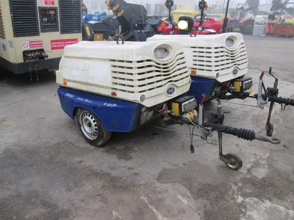 Immagine n. 2 - 10#5085 Compressore carrellato Sullair