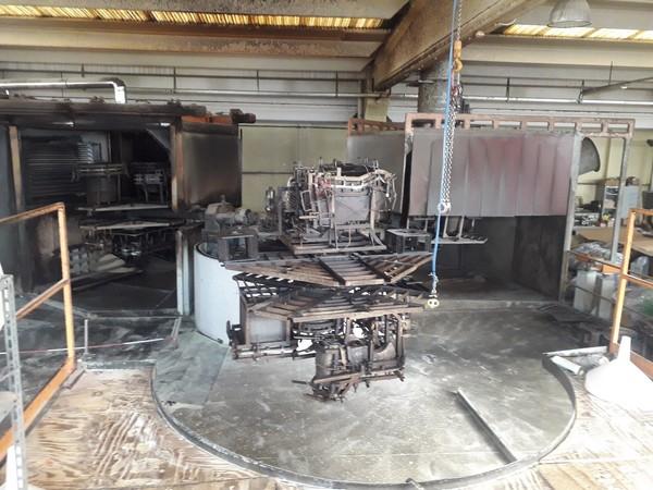 1#5248 Impianto di stampaggio rotazionale ERM 3000 3C