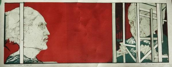1#5255 Incisione a colori su cartoncino
