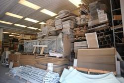 Magazzino legname e materiale elettrico