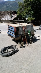 Atlas Copco wheeled air compressor - Lot 3 (Auction 5410)