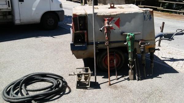 Immagine n. 2 - 3#5410 Compressore d'aria carrellato Atlas Copco