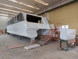 Imbarcazione catamarano House Boat
