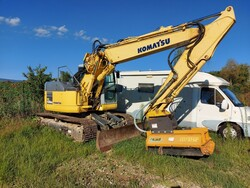 Komatsu PC138US excavator with forage harvester - Lot 24 (Auction 5479)