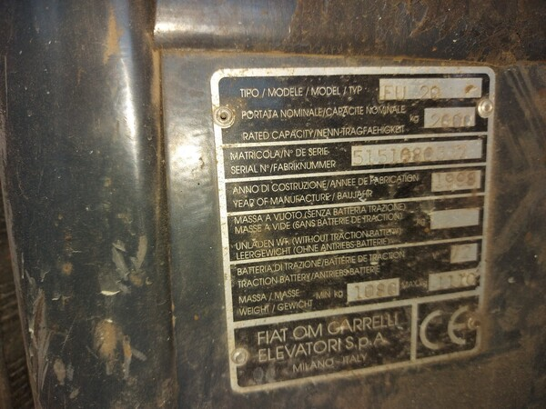 Immagine n. 10 - 1#5488 Carrello elevatore Fiat Om