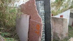Aresina stone and brown quartzite slabs - Lote 569 (Subasta 5538)