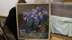 Dipinto soggetto fiori in vaso - Lotto 13 (Asta 5581)