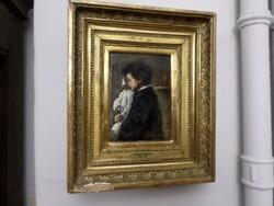Dipinto soggetto Scugnizzo con Pulcinella - Lotto 14 (Asta 5581)