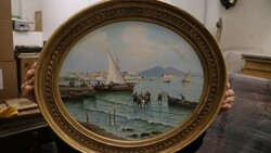 Painting subject marine of Naples - Lot 16 (Auction 5581)