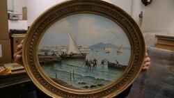 Dipinto soggetto marina di Napoli - Lotto 16 (Asta 5581)