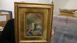 Dipinto soggetto incoronazione Madonna del soccorso - Lotto 17 (Asta 5581)