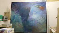 Dipinto soggetto Volto - Lotto 34 (Asta 5581)