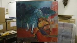 Dipinto soggetto ballerine - Lotto 35 (Asta 5581)