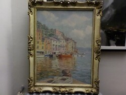 Painting subject View of Portofino - Lot 7 (Auction 5581)
