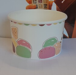 Poly coated paper ice cream cups - Lot 1 (Auction 5590)
