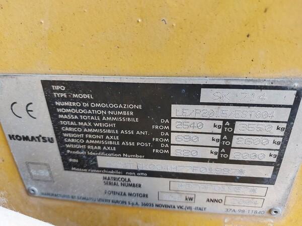13#5611 Minipala Komatsu SK714 in vendita - foto 3