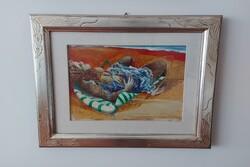 Studio Per Donna Sulla Sdraio  painting - Lote 10 (Subasta 5623)