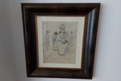 Donna In Costume  painting - Lot 7 (Auction 5623)