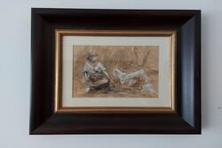 Pastorella Perplessa  painting - Lot 9 (Auction 5623)