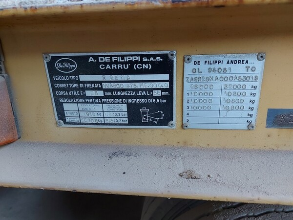 2#5665 Rimorchio De Filippi R28NA in vendita - foto 2
