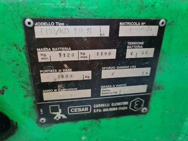 58#5715 Carrello elevatore Cesab in vendita - foto 2