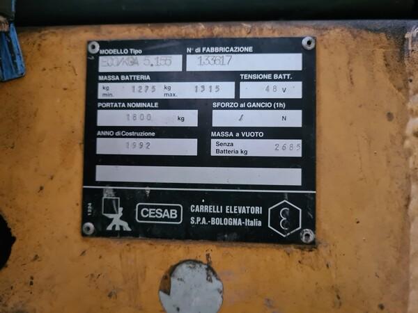 59#5715 Carrello elevatore Cesab in vendita - foto 9