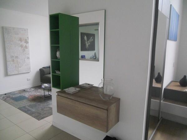 30#5754 Specchio rettangolare e appendiabiti in ferro in vendita - foto 7