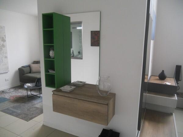 30#5754 Specchio rettangolare e appendiabiti in ferro in vendita - foto 8