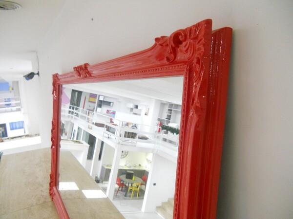 30#5754 Specchio rettangolare e appendiabiti in ferro in vendita - foto 84
