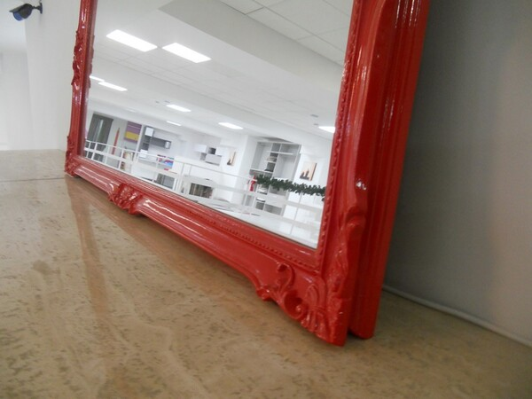 30#5754 Specchio rettangolare e appendiabiti in ferro in vendita - foto 85