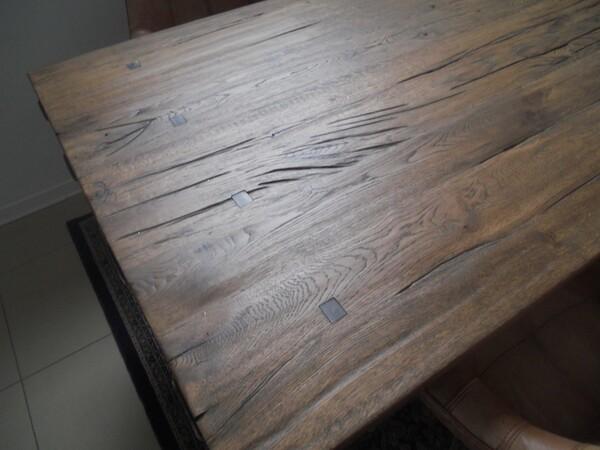 5#5754 Tavolo in legno Divina Nice e poltrone in pelle in vendita - foto 5