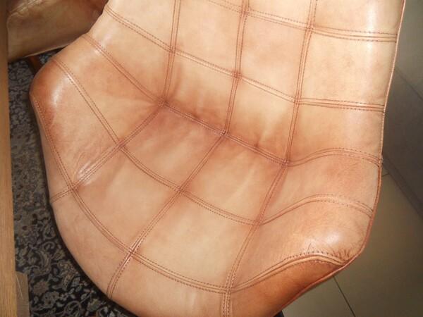 5#5754 Tavolo in legno Divina Nice e poltrone in pelle in vendita - foto 8