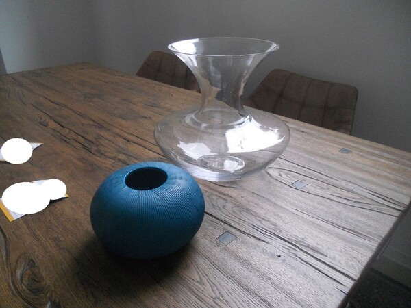 5#5754 Tavolo in legno Divina Nice e poltrone in pelle in vendita - foto 10