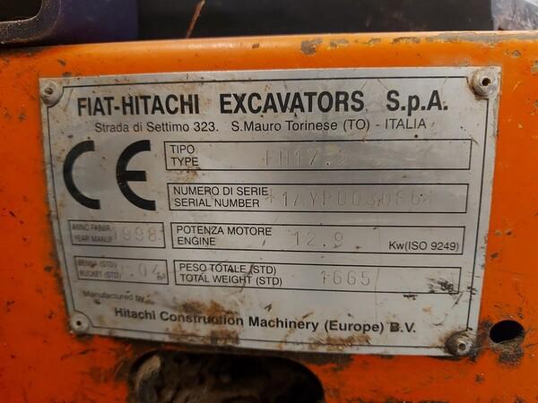 1#5783 Miniescavatore  Fiat-Hitachi in vendita - foto 6