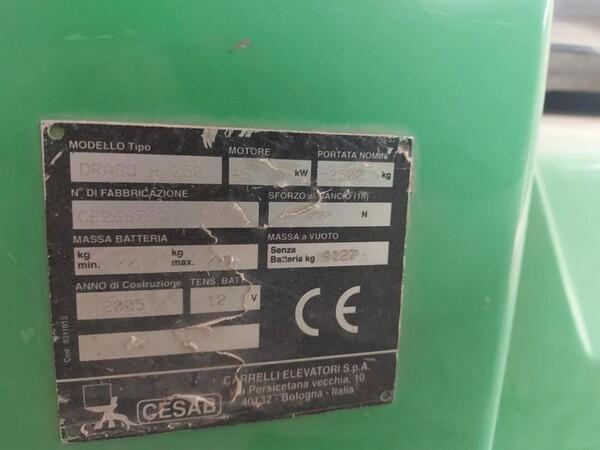6#5783 Muletto CESAB compreso di forca in vendita - foto 14
