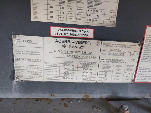 1#5809 Semirimorchio A.V. 38S20 in vendita - foto 8