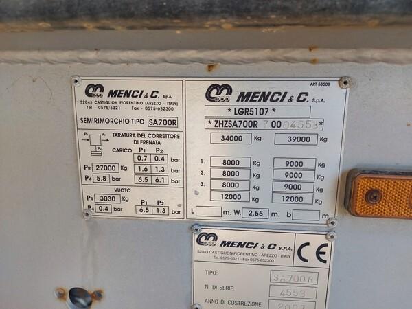 2#5809 Semirimorchio Menci SA700R in vendita - foto 4
