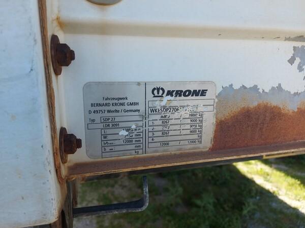 25#5809 Semirimorchio Bernard Krone GmbH SDP27 in vendita - foto 4