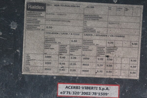 13#5810 Semirimorchio Acerbi-Viberti AV38S20 in vendita - foto 8