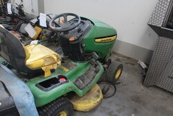 John Deere ride on mower and garden tools - Lot 17 (Auction 5817)