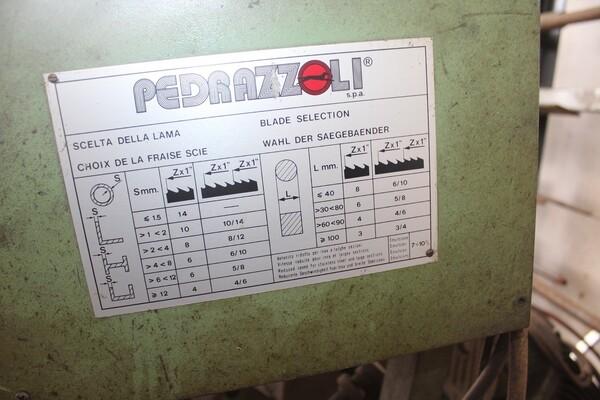7#5817 Sega a nastro Pedrazzoli e pressa idraulica Omcn in vendita - foto 4